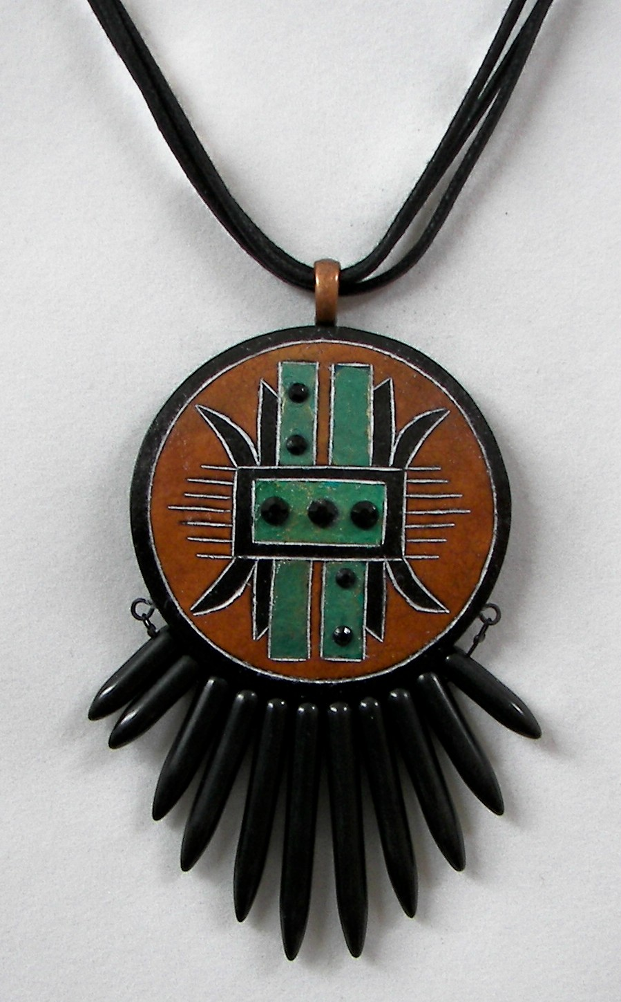 Gourd-Jewlery-SW-with-Black-Stone-Fringe