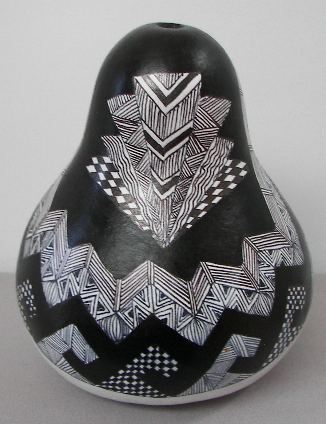 Gourd-White-paint-and-Sharpie