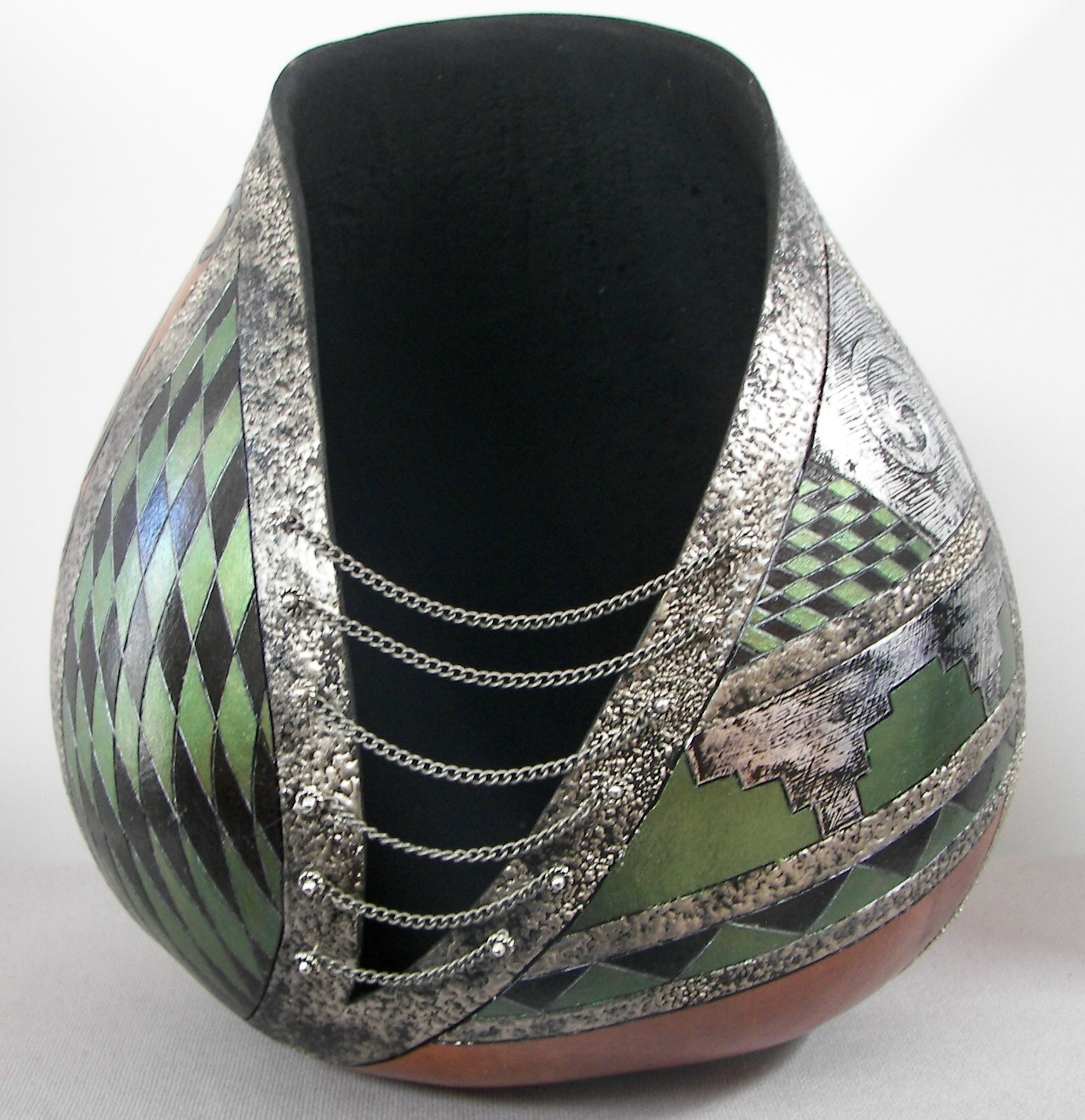 Gourd-with-Silver-Tape-and-Olive-Green-3-19-16