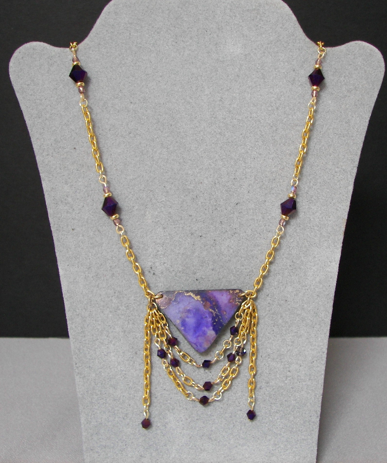 alcohol-ink-necklace-purple-and-gold-chain