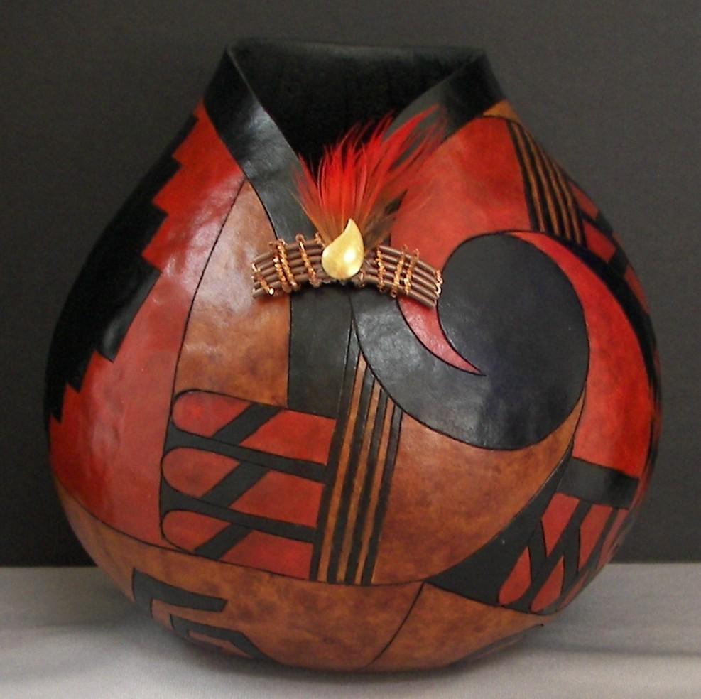 Gourd-Southwest-Geometric-Finished